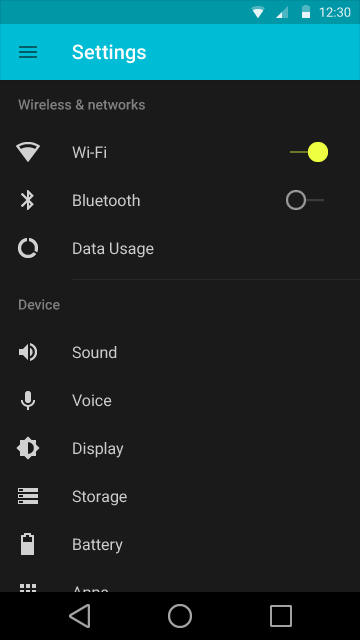 Settings - Android L User Interface - Techzei