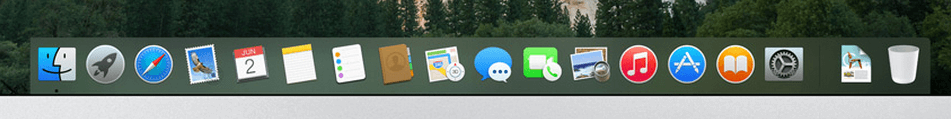 dock with new icons