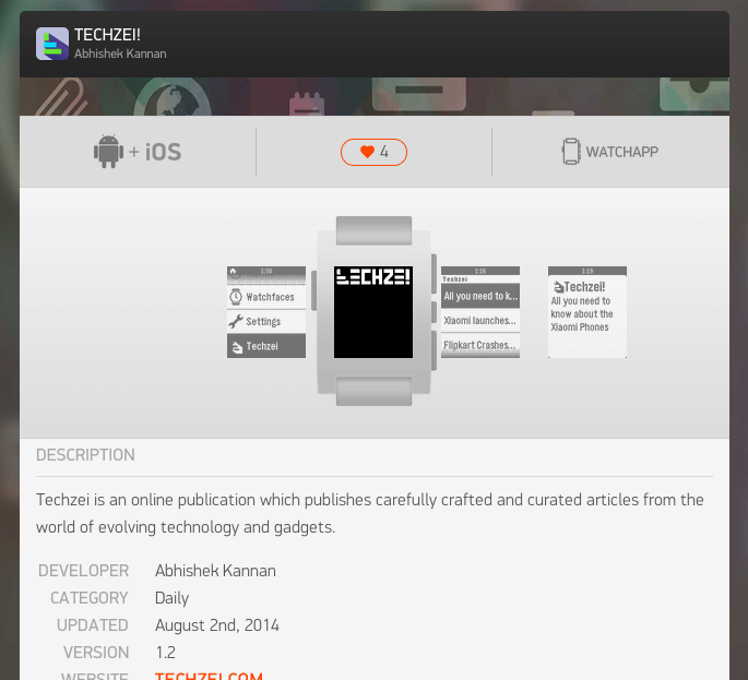 pebble app for techzei