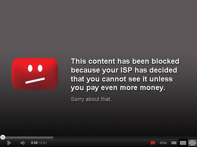 Do you want to see such a message displayed while you watching videos on YouTube?