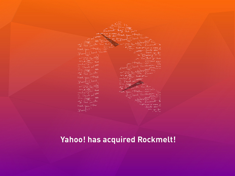 Yahoo has acquired Rockmelt