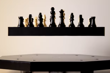 A Floating chess board made possible by the new Magnetic Levitation Technology