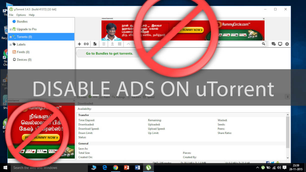 How to disable ads on uTorrent