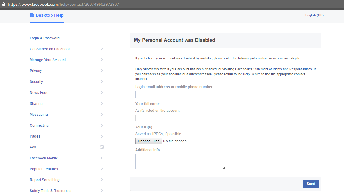 how to get photos from disabled facebook account